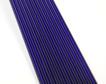 Brilliant Blue Asian Colored Glass Rod