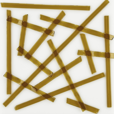 Medium Amber Noodles, Uroboros 96 COE  -  17 in. Lengths *Packed in 5 oz. Tubes -  About 25 Noodles Per Pack