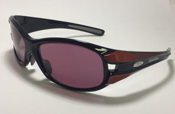 Polycarbonate Sodium Flare Glasses In LX007 Black W/ Orange Designer Frame