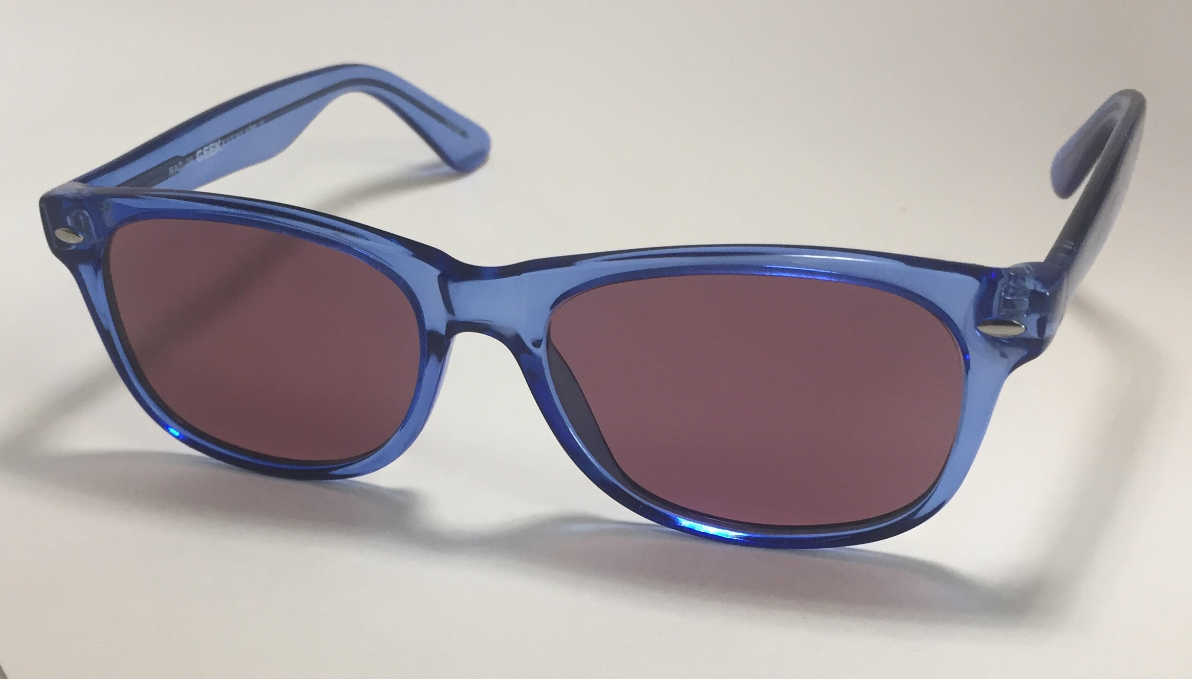 POLYCARBONATE SODIUM FLARE, UV/IR GLASSES IN BLUE