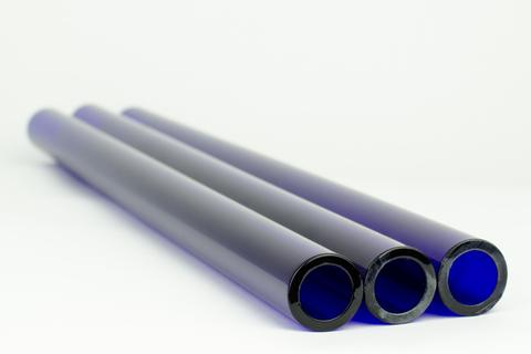 Brilliant Blue Glass Tubing