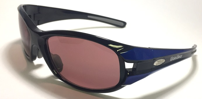 Polycarbonate Sodium Flare Glasses In LX007 Black W/ Blue Designer Frame