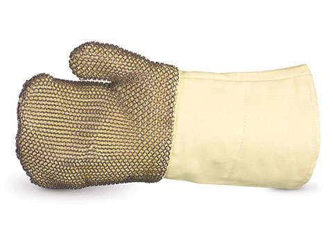 High-Heat Kevlar Fiber Gloves with Stainless Steel Mesh Outer Layer