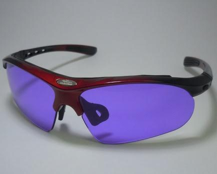 Polycarbonate Sodium Flare Glasses In LX006 Black W/ Red Designer Frame