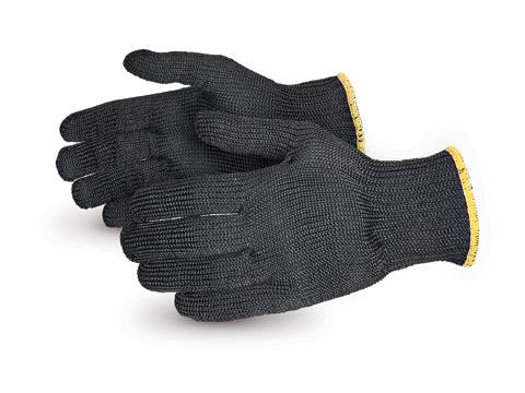 Seamless Knit Kevlar Gloves - Black
