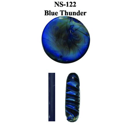 Blue Thunder Glass Rod (NS-122)
