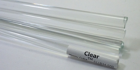 Clear 8-9mm - Messy Glass Rod 6630-8