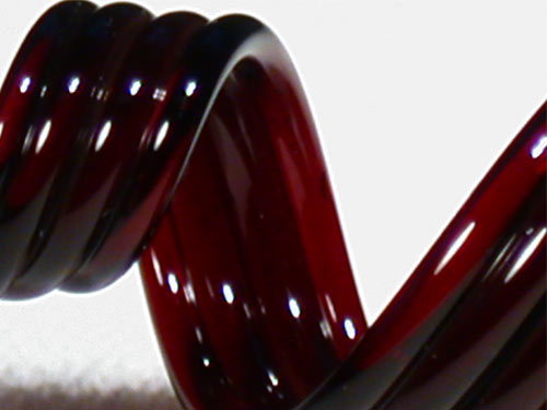 Dark Red 'Black' Elvis Glass Rod (9901)