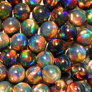 Gilson Lab Opals - Black Sphere - 4mm