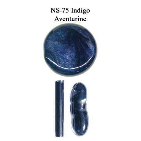 Indigo Aventurine Glass Rod (NS-75)