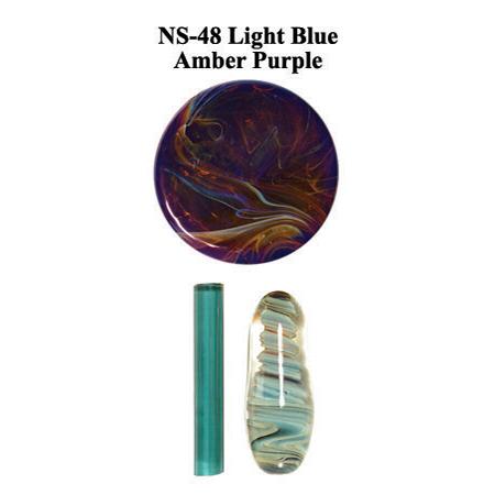 Light Blue Amber Purple Glass Rod (NS-48)