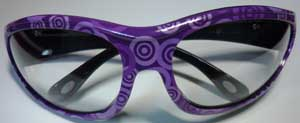 Purple Frame with Clear Safety Lens