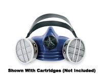 Respirator, 1/2 Mask - Survivair M/L Blue Silicone Premier Plus S-Series, APR Face-piece with Exhalation Valve