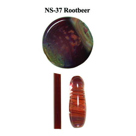 Rootbeer Glass Rod (NS-37)