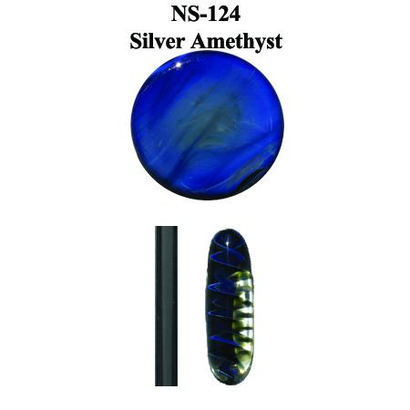 Silver Amethyst Glass Rod (NS-124)