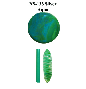 Silver Aqua Glass Rod (NS-133)