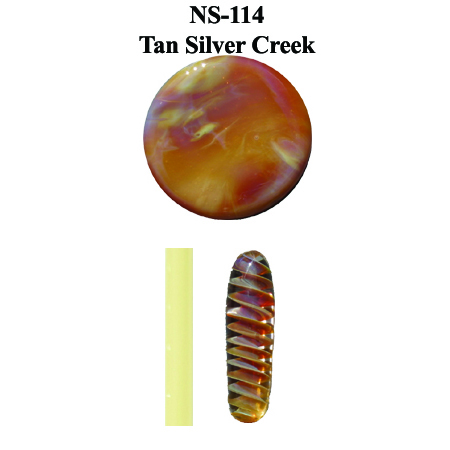 Tan Silver Creek Glass Rod (NS-114)
