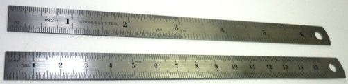 Stainless Steel Rulers - Inches & Metric