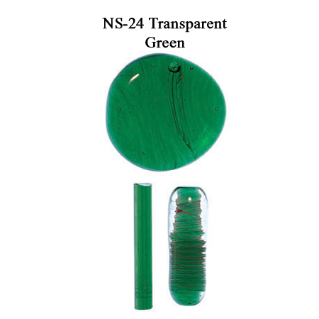 Emerald Transparent Glass Frit with Green Glass Rod (NS-24)