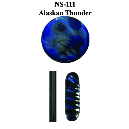 Alaskan Thunder Glass Rod & Glass Frit (NS-111)
