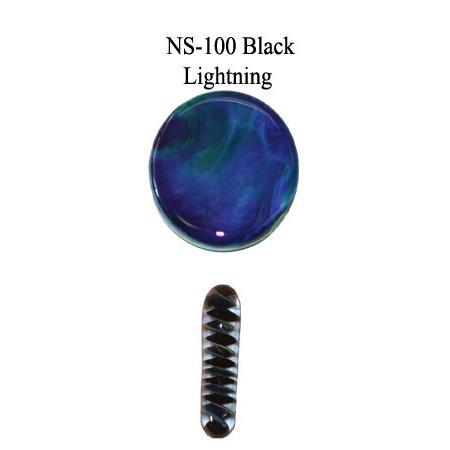 Black Lightning Glass Rod & Glass Frit (NS-100)