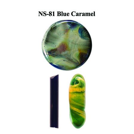Blue Caramel Glass Rod & Glass Frit (NS-81)