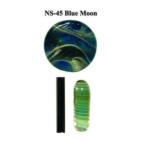 Blue Moon Glass Rod & Glass Frit (NS-45)