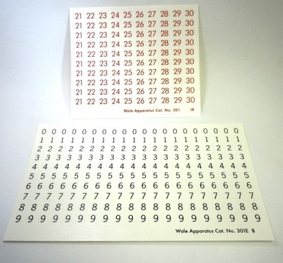 Ceramic Decal - Number Series Sheets -1/4 in. High