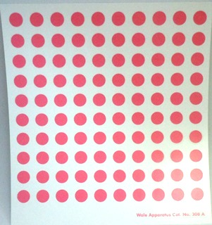 Ceramic Decal - White Satin Dots