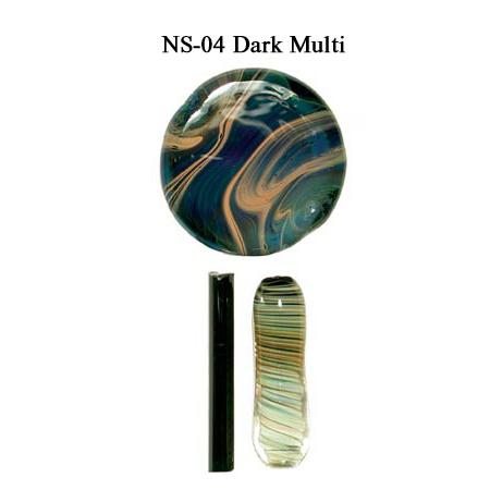 Dark Multi Glass Rod & Glass Frit (NS-04)
