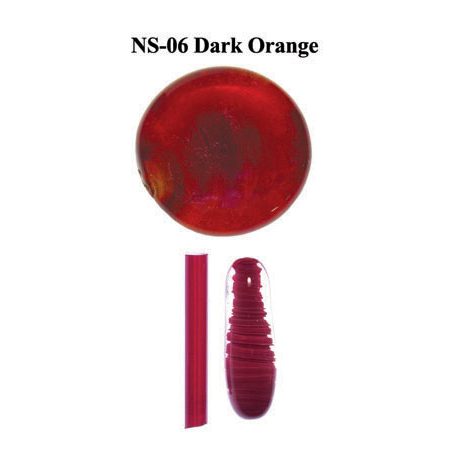 Dark Orange Glass Rod & Glass Frit (NS-06)