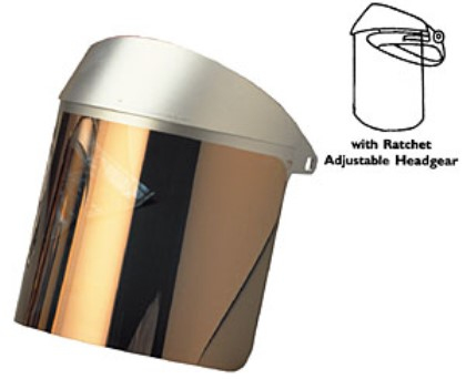 Gold Coated Faceshield with Headgear