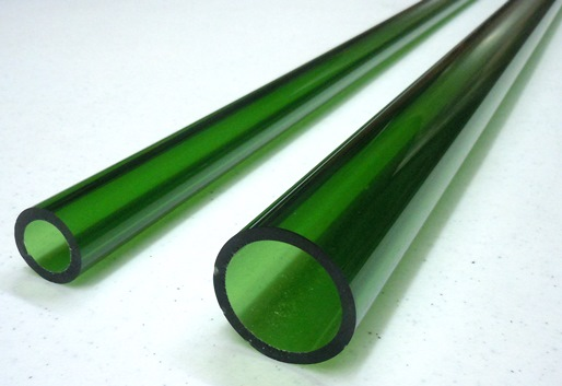 Green Asian Glass Tubing