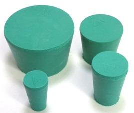 Green Neoprene Rubber Stopper - Solid