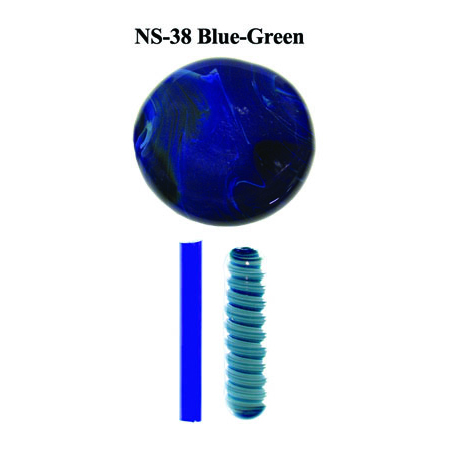 Intense Blue-Green Glass Rod & Glass Frit (NS-38)