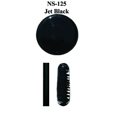 Jet Black Transparent Glass Frit with Black Glass Rod (NS-125)