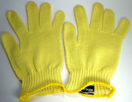 Seamless Glass Fiber/Kevlar Knit Work Gloves - 6