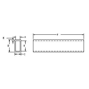 Large Ratio Rectangular Tubing