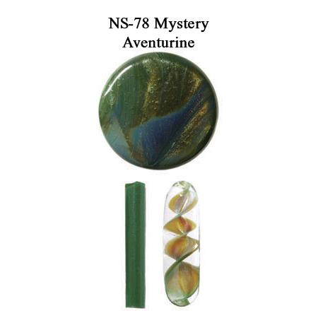 Mystery Aventurine Glass Rod & Glass Frit (NS-78)