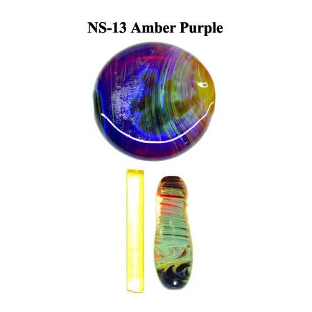 Amber Purple Glass Rod & Glass Frit (NS-13)