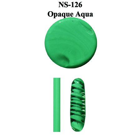 Opaque Aqua Glass Rod & Glass Frit (NS-126)